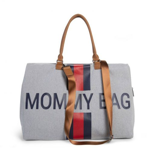 Prebalovacia taška Mommy bag Grey Stripes Red Blue  5
