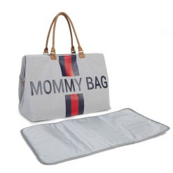 Prebalovacia taška Mommy bag Grey Stripes Red Blue  7