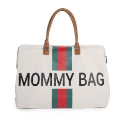 Prebalovacia taška Mommy bag off White Green Red 1