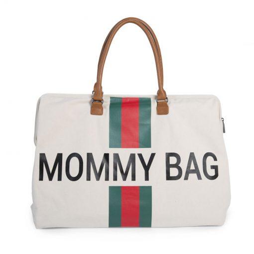 Prebalovacia taška Mommy bag off White Green Red 1