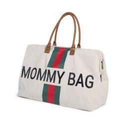 Prebalovacia taška Mommy bag off White Green Red 2