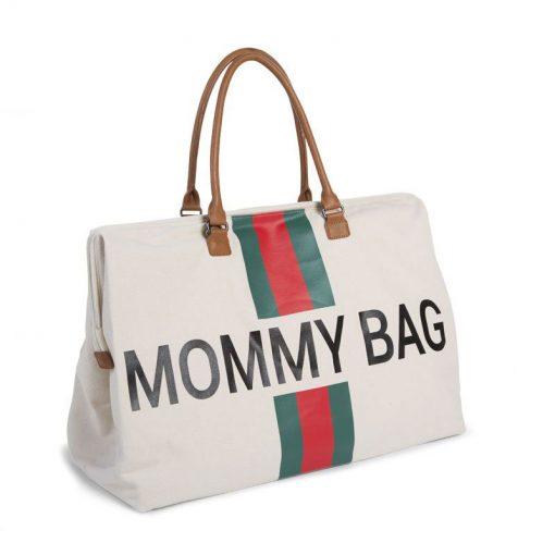 Prebalovacia taška Mommy bag off White Green Red 3