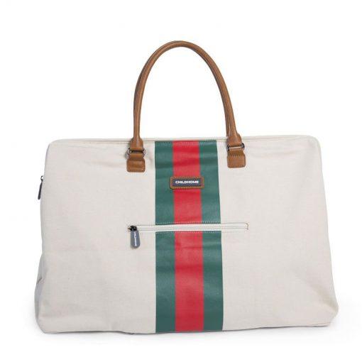 Prebalovacia taška Mommy bag off White Green Red 4
