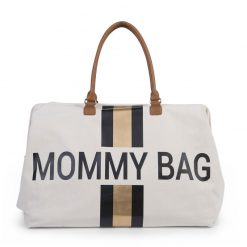 Prebalovacia taška Mommy bag White Black Gold 1