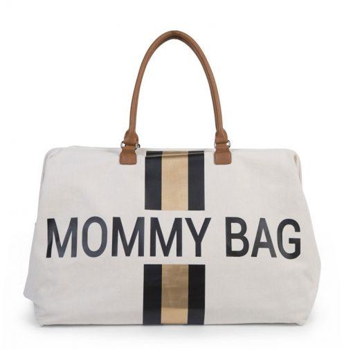 Prebalovacia taška Mommy bag White Black Gold 1