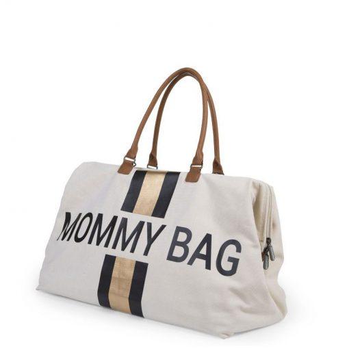 Prebalovacia taška Mommy bag White Black Gold 2