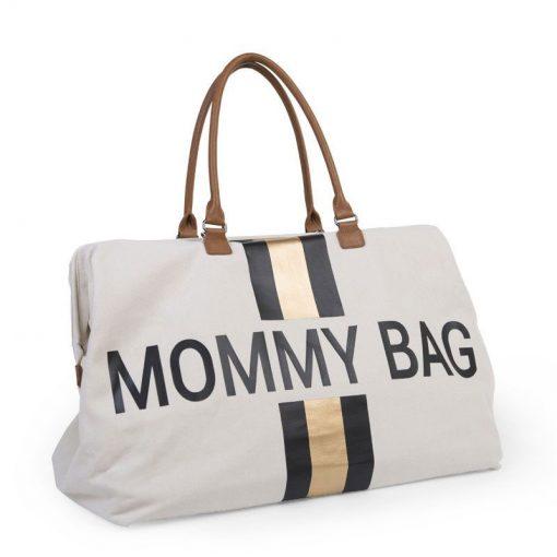 Prebalovacia taška Mommy bag White Black Gold 3