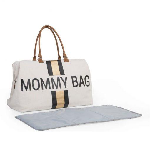 Prebalovacia taška Mommy bag White Black Gold 7