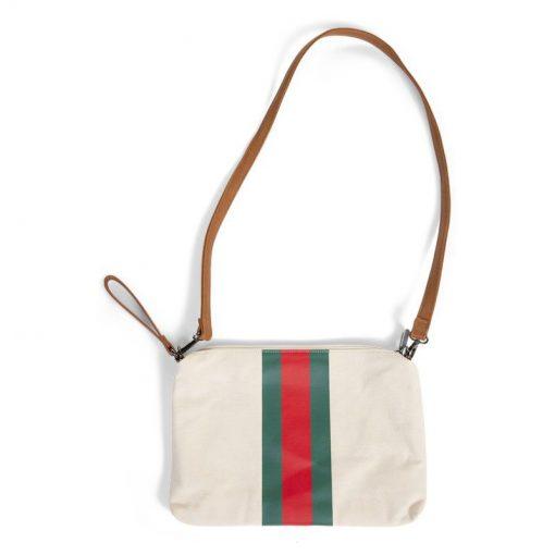 Púzdro na zips s putkom Off White Stripes Green Red 3
