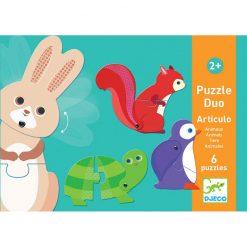 Puzzle Duo Pohyblivé zvieratka 1