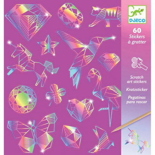 Vyškrabovacie samolepky - Diamanty 1