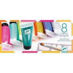 Farbený trblietkový gel 1