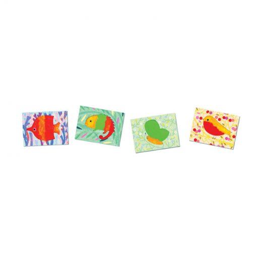 Djeco Prstové farby Vytlač a rozotri 3