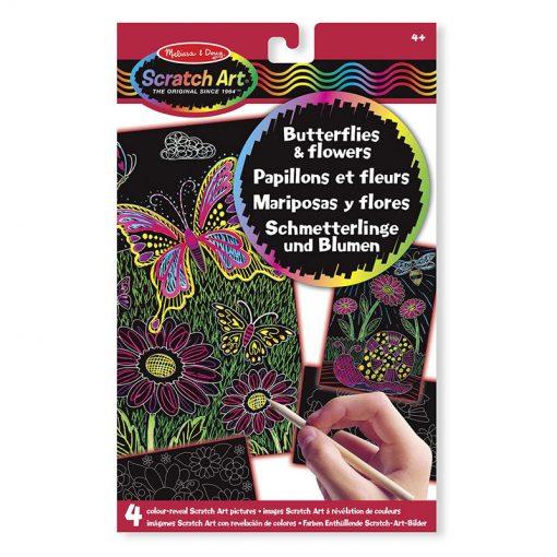 Vyškrabovanie Kvety a motýle 1