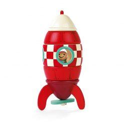 JANOD Drevená magnetická skladačka Raketa-1