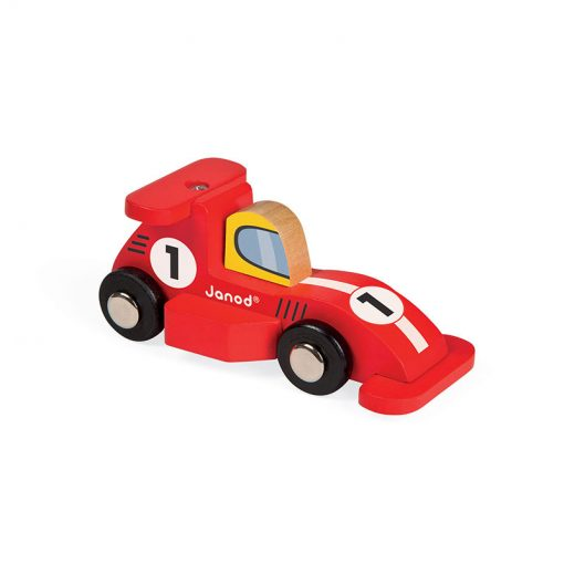 JANOD Drevené auto Racing Formula1 červené-1