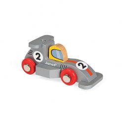 JANOD Drevené auto Racing Formula1 sivé-1