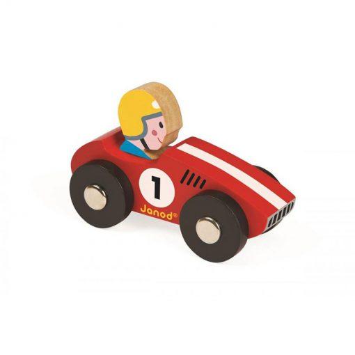 JANOD Drevené auto Story Racing Racer červené-1