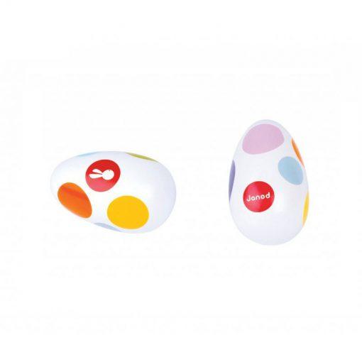 JANOD Drevené hrkajúce vajíčko -1