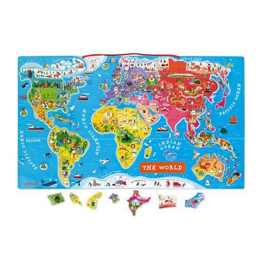 JANOD Magnetická mapa sveta -1