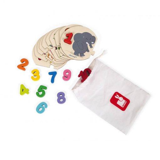 Janod puzzle I learn čísla 2