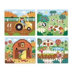 VILAC Drevené puzzle Farma-1