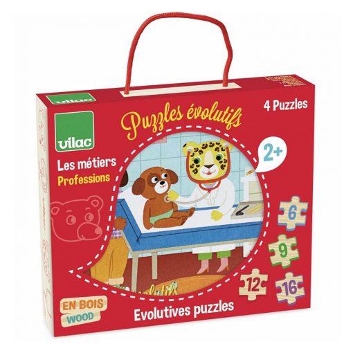VILAC Drevené puzzle Povolania-2