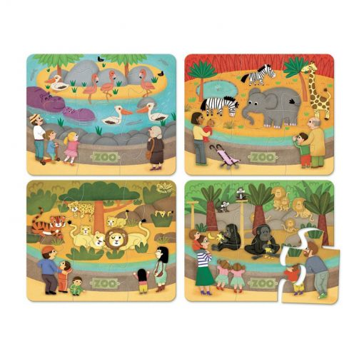 VILAC Drevené puzzle ZOO-1