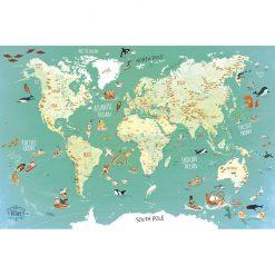 VILAC Magnetická mapa sveta-1