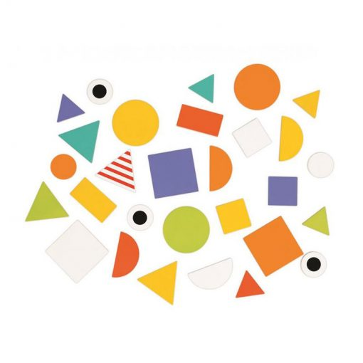JANOD Drevená skladačka a vkladačka Tvary a farby 2