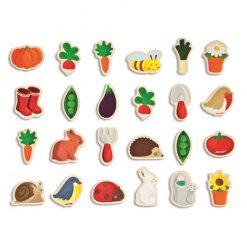 JANOD Drevené magnetky pre deti Zvieratá na záhrade 1