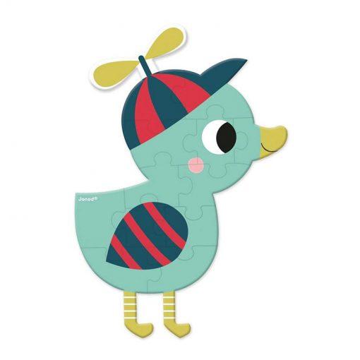 JANOD Mini puzzle Lesné zvieratká kačička