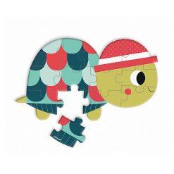 JANOD Mini puzzle Lesné zvieratká korytnačka