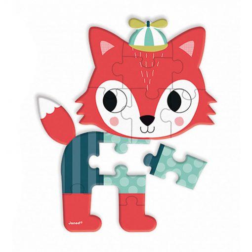 JANOD Mini puzzle Lesné zvieratká líška