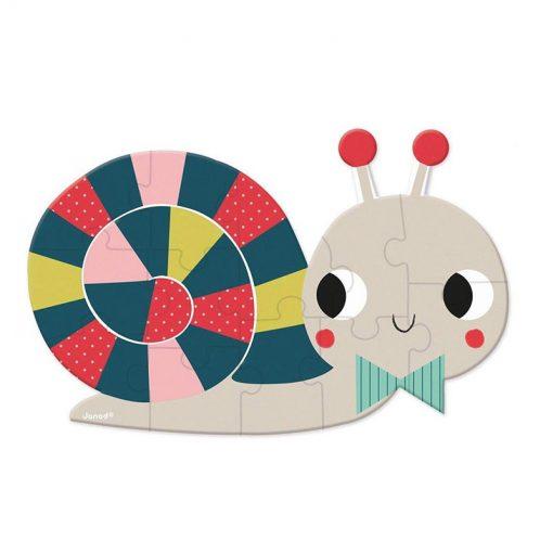 JANOD Mini puzzle Lesné zvieratká slimák