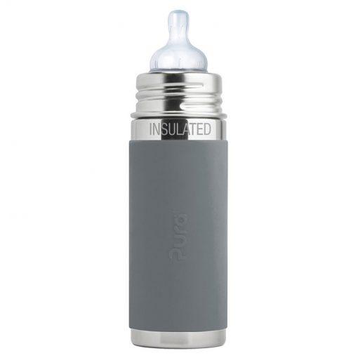 Pura dojčenská fľaša 260 ml Sivá 1