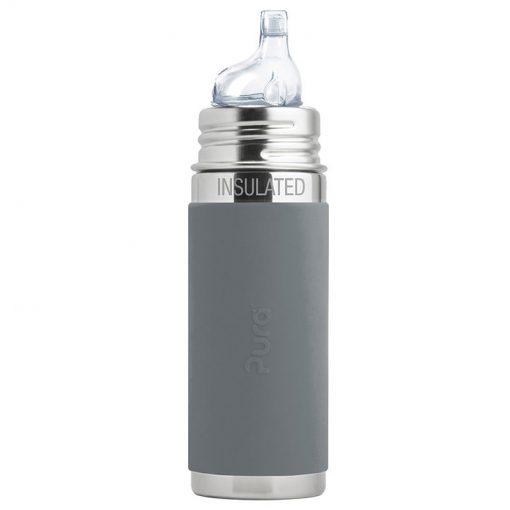 Pura termo fľaša s náustkom Sivá 1