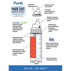 Pura termo fľaša s náustkom Sivá 4