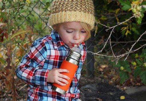 Pura termo fľaša so slamkou Sivá 5