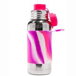Pura termo fľaša so športovým uzáverom 475 ml Ružovo biela 1