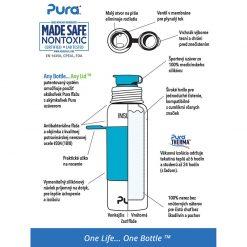 Pura Termo fľaša so športovým uzáverom 650 ml Ružovo biela 2