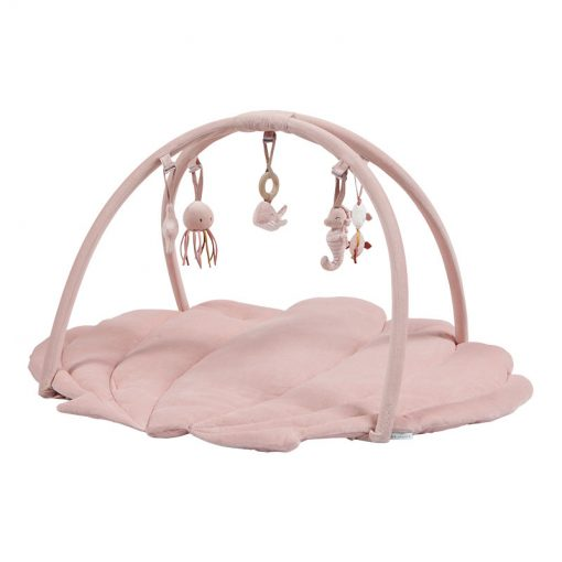 Little Dutch Hracia deka s hrazdičkou Ocean pink 1