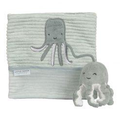 Little Dutch Plyšová knížka veľká Chobotnica Ocean Mint 1