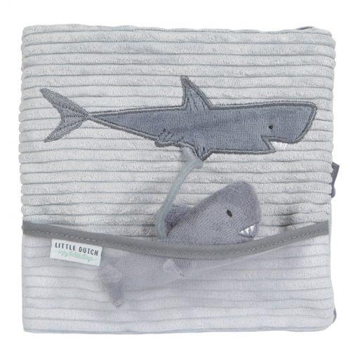 Little Dutch Plyšová knížka veľká Žralok Ocean Blue 1