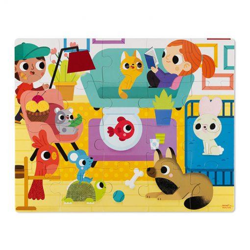 Janod Dotykové Puzzle Domáce zvieratá 1