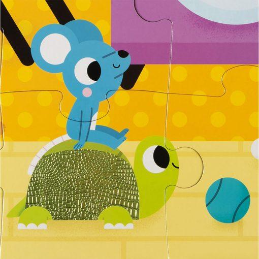 Janod Dotykové Puzzle Domáce zvieratá 3