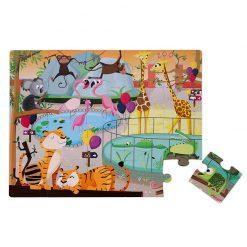 Janod Dotykové Puzzle Deň v zoologicekj záhrade 1