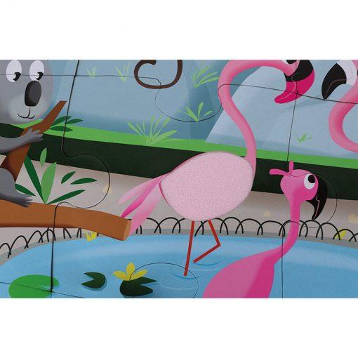 Janod Dotykové Puzzle  Deň v zoologicekj záhrade 3