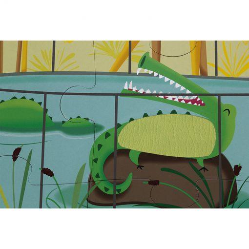 Janod Dotykové Puzzle  Deň v zoologicekj záhrade 4