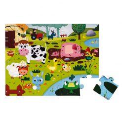 Janod Dotykové Puzzle Zvieratká na farme 1